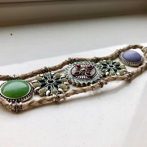 Lucky brand colorful gem bracelet